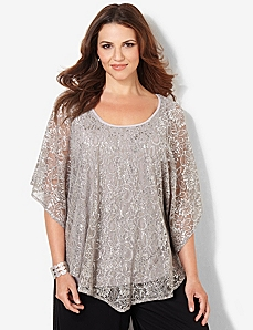 Draping Lace Top