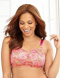 Paisley Back-Smoother No-Wire Bra by CATHERINES