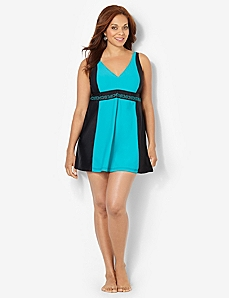 Colorblock Swimdress
