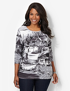 Winter Snowfall Tee by CATHERINES