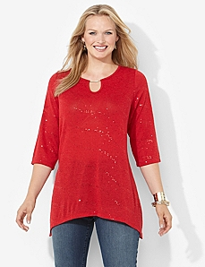 Sequin Stream Top