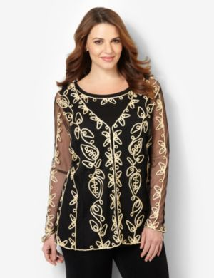 Sheer Soutache Duet Top