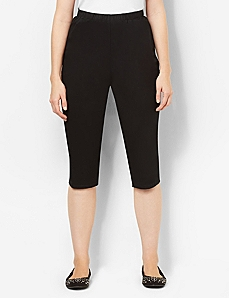Essential Twill Capri by CATHERINES
