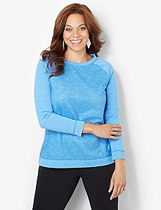 Lace Pullover by CATHERINES