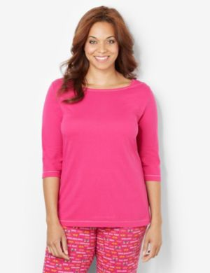 Soft Slumber Boatneck Sleep Top