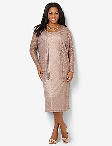 Chandelier Jacket Dress by CATHERINES