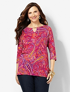 Paisley Passion Top by CATHERINES