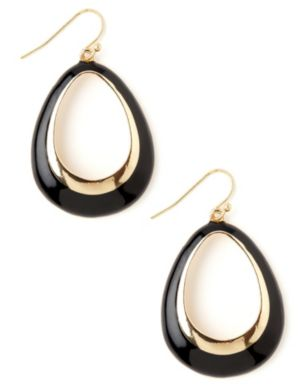 Enamel Teardrop Earrings