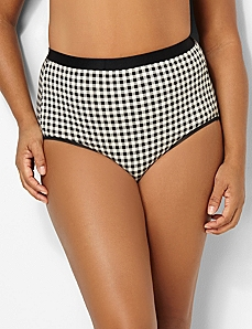 Plaid Cotton Full Brief by CATHERINES