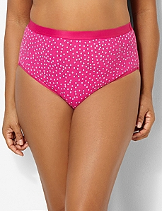Glitter Dot Cotton Hi-Cut Brief by CATHERINES