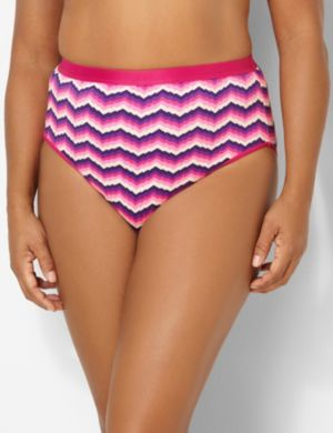Vivid Waves Cotton Hi-Cut Brief