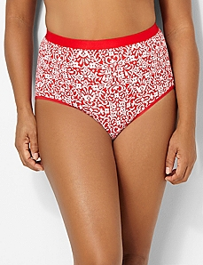 Bright Print Cotton Full Brief by CATHERINES