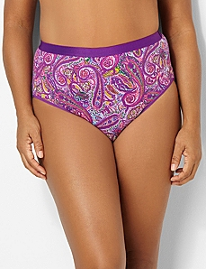 Paisley Muse Cotton Hi-Cut Brief