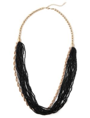 Draping Bead & Chain Necklace