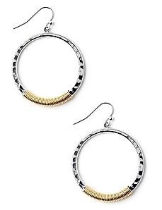 Wired Hoop Earrings