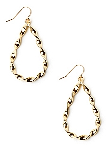 Twisted Teardrop Earrings