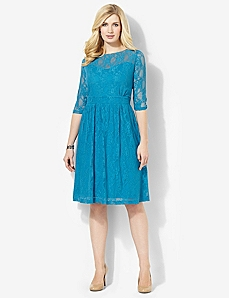 Sweetheart Lace Dress by CATHERINES