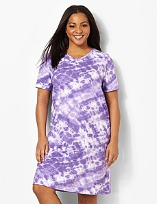 Tie-Dye Sleepshirt by CATHERINES