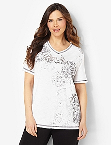 Shimmer Spirit Tee by CATHERINES