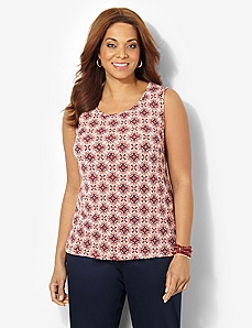 Timeless Print Tank by CATHERINES