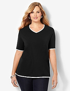 Suprema Layered Look V-Neck