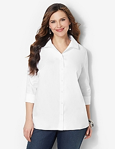 Non-Iron Shirt by CATHERINES