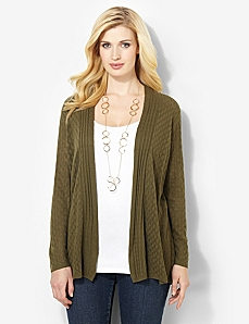 Essential Pointelle Cardigan by CATHERINES