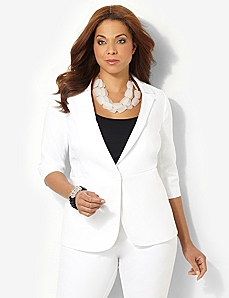 Double Weave Blazer by CATHERINES