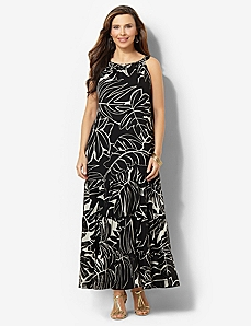 Tropical Leaf Maxi