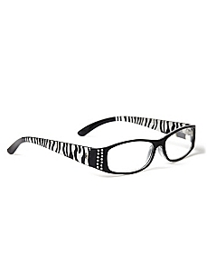 Zebra Stripe Reading Glasses