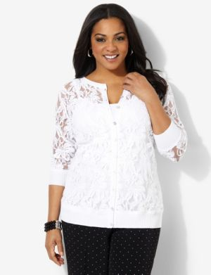 Tropical Lace Cardigan