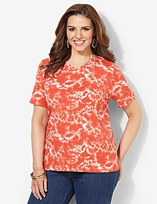 Bright Tie-Dye Tee by CATHERINES