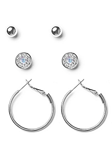 Classic 3-Pair Earring Set