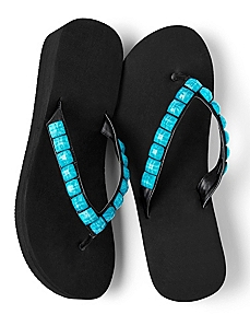 Summer Stone Flip-Flops by CATHERINES