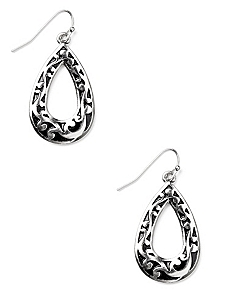 Filigree Finish Earrings