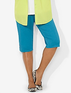 Timeless Fit Color Capri by CATHERINES