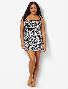 Sideswirl Empire Swimdress