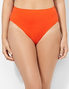 Seamless Cotton Hi-Cut Brief by CATHERINES