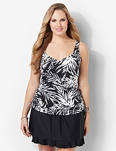 PALM GLITZ TANKINI TOP