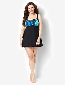 Bright Vibe Swimdress by CATHERINES