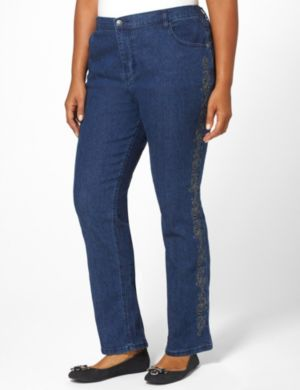 Embroidered Bootcut Jean