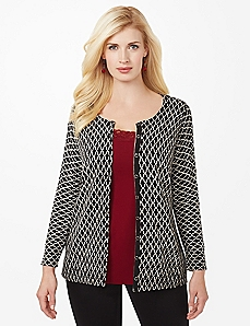 Printed Button Cardigan