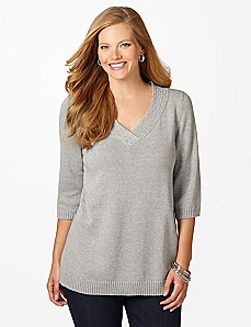 Simple Joys 3/4-Sleeve Sweater