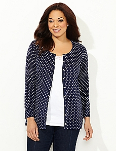 Patterned Essential Snap Cardigan