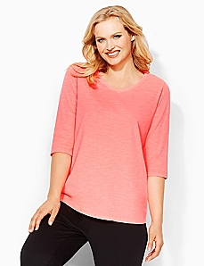 Basic Brights 3/4-Sleeve Tee