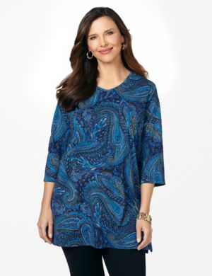 Paisley Easy Fit Tee