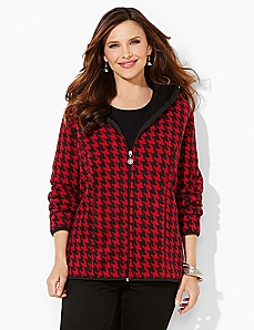 Houndstooth Riverside Fleece Coat