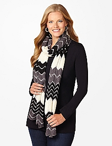 Sequin Chevron Scarf