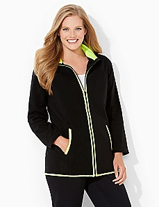 Bright Piped Fleece Jacket