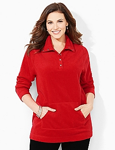 Ribbed Fleece Pullover